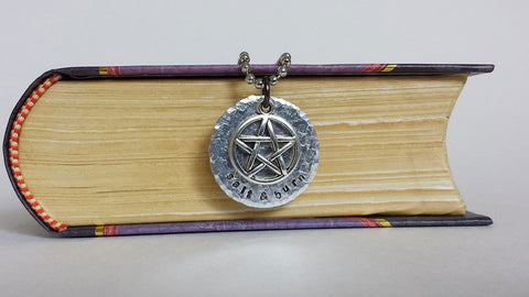 Salt & Burn - Supernatural Inspired Aluminum Charm Pendant Necklace