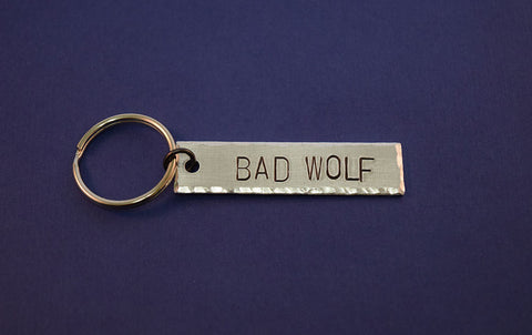 BAD WOLF - Doctor Who Inspired Aluminum Keychain