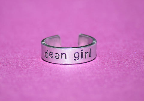 Dean Girl - Supernatural Inspired Aluminum Adjustable Ring