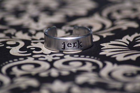 Jerk - Supernatural Inspired Aluminum Adjustable Ring