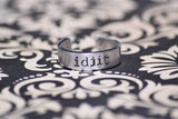 Idjit - Supernatural Inspired Aluminum Adjustable Ring