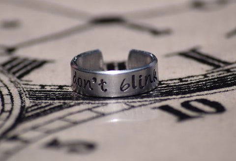Don't Blink - Doctor Who Inspired Aluminum Adjustable Ring