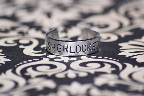 SHERLOCKED - Sherlock Inspired Aluminum Adjustable Ring