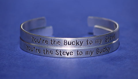 Steve and Bucky - Captain America Inspired Cuff Set