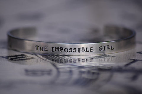 The Impossible Girl - Doctor Who Inspired Aluminum Bracelet Cuff
