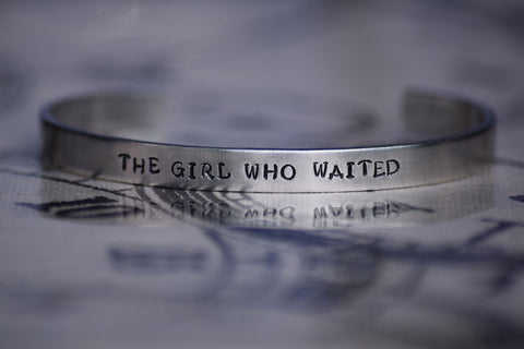 The Girl Who Waited - Doctor Who Inspired Aluminum Bracelet Cuff