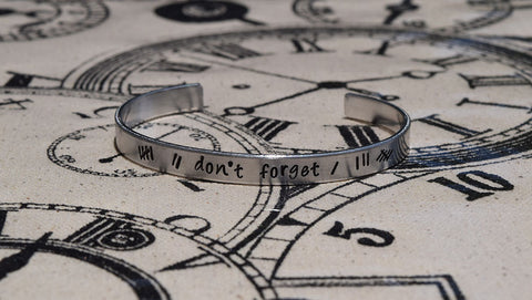Don't Forget - Doctor Who Inspired Aluminum Bracelet Cuff