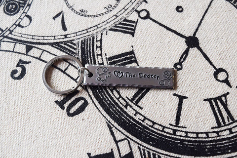 I Double Heart the Doctor - Doctor Who Inspired Aluminum Keychain