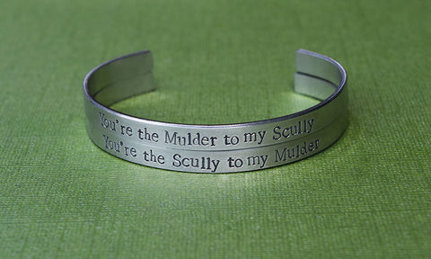 Mulder and Scully - X-Files Inspired Cuff Set