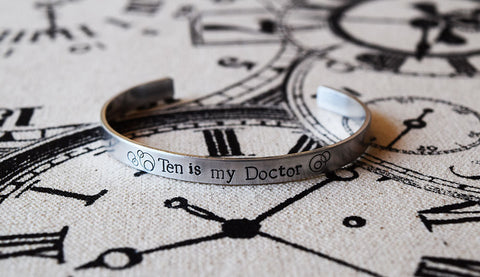 Pick your Doctor - Doctor Who Inspired Aluminum Bracelet Cuff