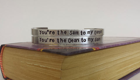 Dean and Sam - Supernatural Inspired Cuff Set