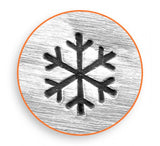 Snow Flake Metal Design Stamp 3mm