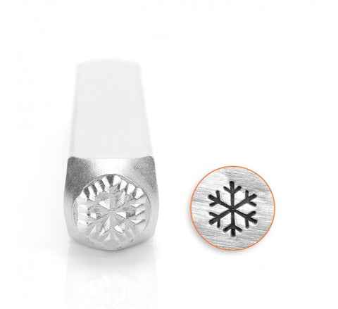 Snow Flake Metal Design Stamp 6mm