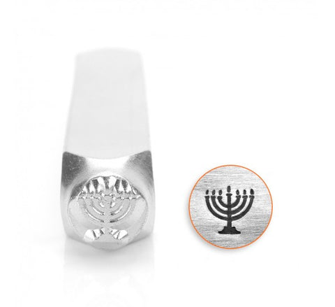 Menorah Metal Design Stamp 6mm
