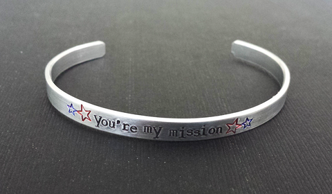 You're my mission - Captain America/Bucky Barnes Inspired Bracelet Cuff