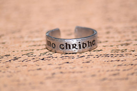 Mo Chridhe - Outlander Inspired Aluminum Adjustable Ring
