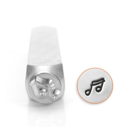 Music Note Metal Design Stamp 6mm