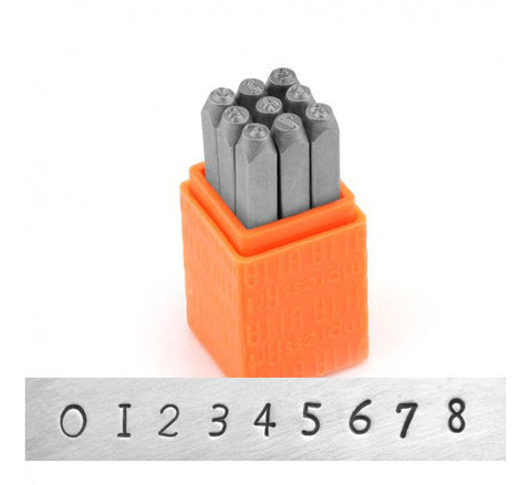 Newsprint 3mm Basic Numbers Metal Stamp Set