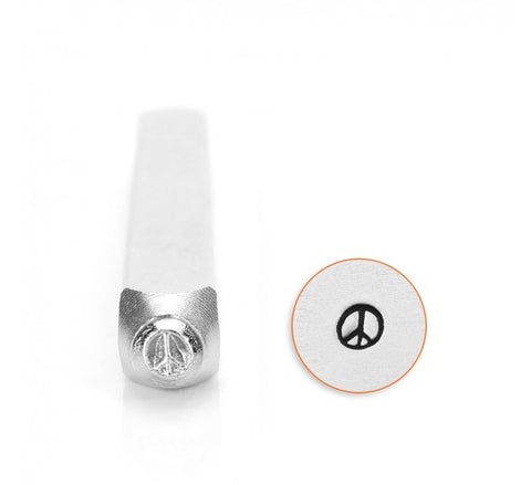 Peace Sign Metal Design Stamp 3mm