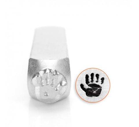 Right Hand Print Metal Design Stamp 9.5mm