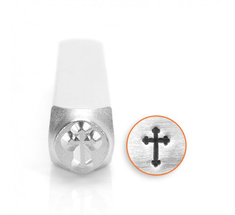 Rounded Cross Metal Design Stamp 6mm