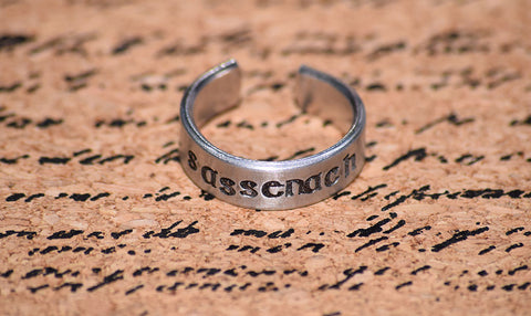 Sassenach - Outlander Inspired Aluminum Adjustable Ring