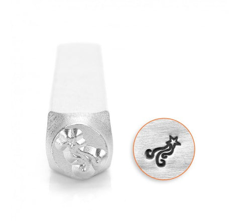 Shooting Star Metal Design Stamp 6mm