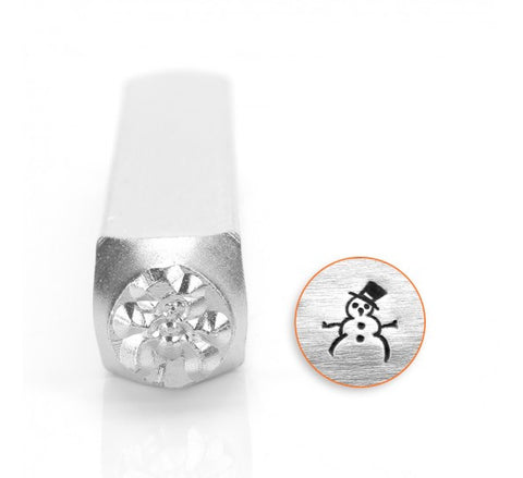 Snow Man Metal Design Stamp 6mm