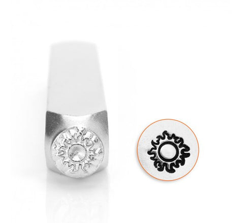 Sun Metal Design Stamp 6mm