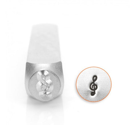 Treble Clef Metal Design Stamp 6mm