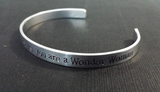 In a world of ordinary mortals, you are a Wonder Woman Bracelet Cuff