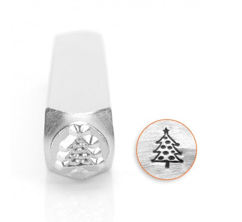 Christmas Tree Metal Design Stamp 6mm