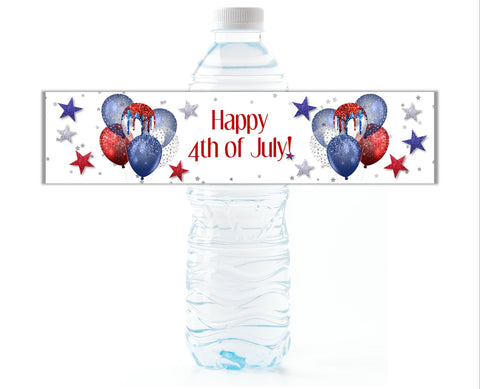4th of July Water Bottle Labels - Cathy's Creations - www.candywrappershop.com