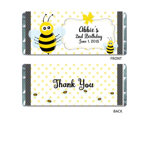 Bumble Bee Candy Bar Wrapper - Cathy's Creations - www.candywrappershop.com