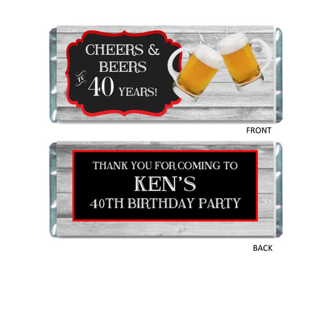Cheers and Beers Wrapper Candy Bar Wrapper- Cathy's Creations - www.candywrappershop.com