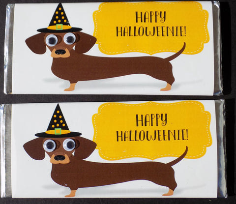 Halloween Dachshund Candy Bar-Candy Bar Wrapper-Cathy's Creations - www.candywrappershop.com