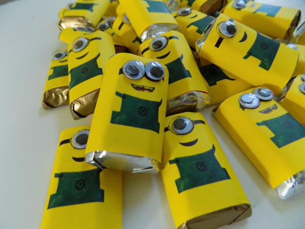 Minion Mini Candy Wrappers - Cathy's Creations - www.candywrappershop.com