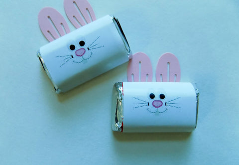 Easter Bunny Mini Candy Wrappers - Cathy's Creations - www.candywrappershop.com