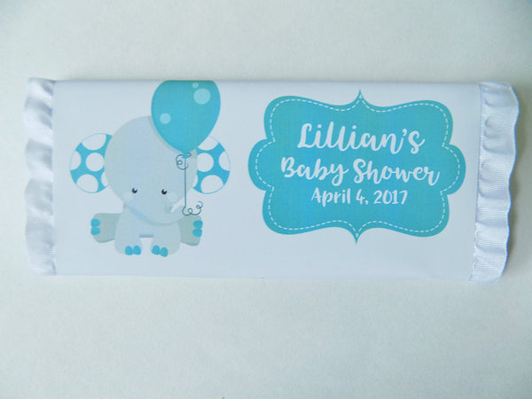 Elephant Baby Candy Bar-Candy Bar Wrapper-Cathy's Creations - www.candywrappershop.com