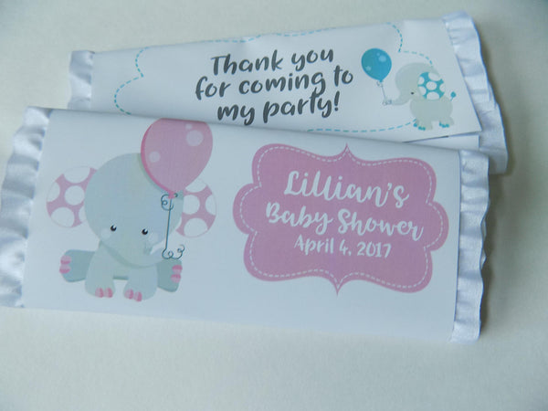 Elephant Baby Candy Bar - Cathy's Creations - www.candywrappershop.com