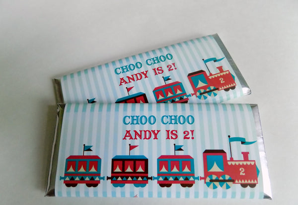 Circus Train Candy Bar Wrappers - Cathy's Creations - www.candywrappershop.com