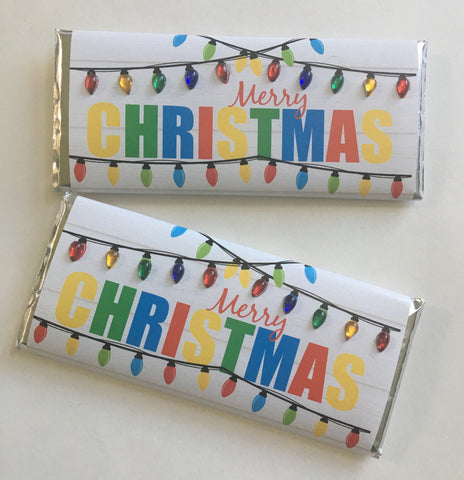 cathy-wraps - Christmas Lights Bling Candy Bar Wrapper - Candy Bar Wrapper
