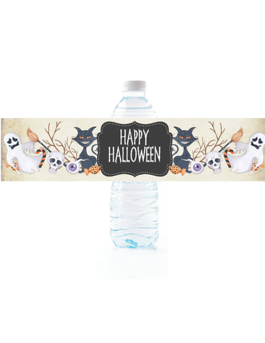 Halloween Water Bottle Labels - Cathy's Creations - www.candywrappershop.com
