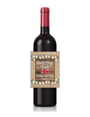 cathy-wraps - Rustic Christmas Wine Bottle Labels - Wine Labels