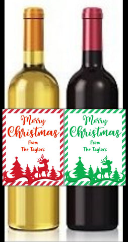 Bottle Labels - Bottle Wine Labels- Cathy's Creations - www.candywrappershop.com