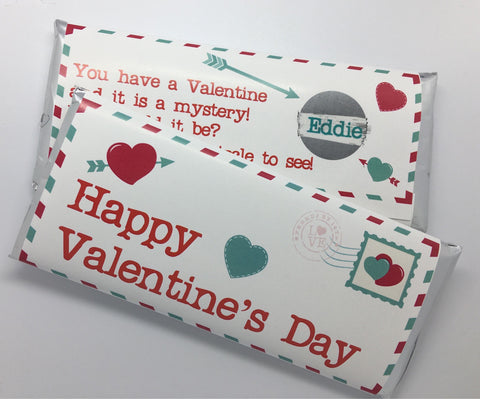 Valentine's Day Scratch Off Candy Wrapper - Cathy's Creations - www.candywrappershop.com