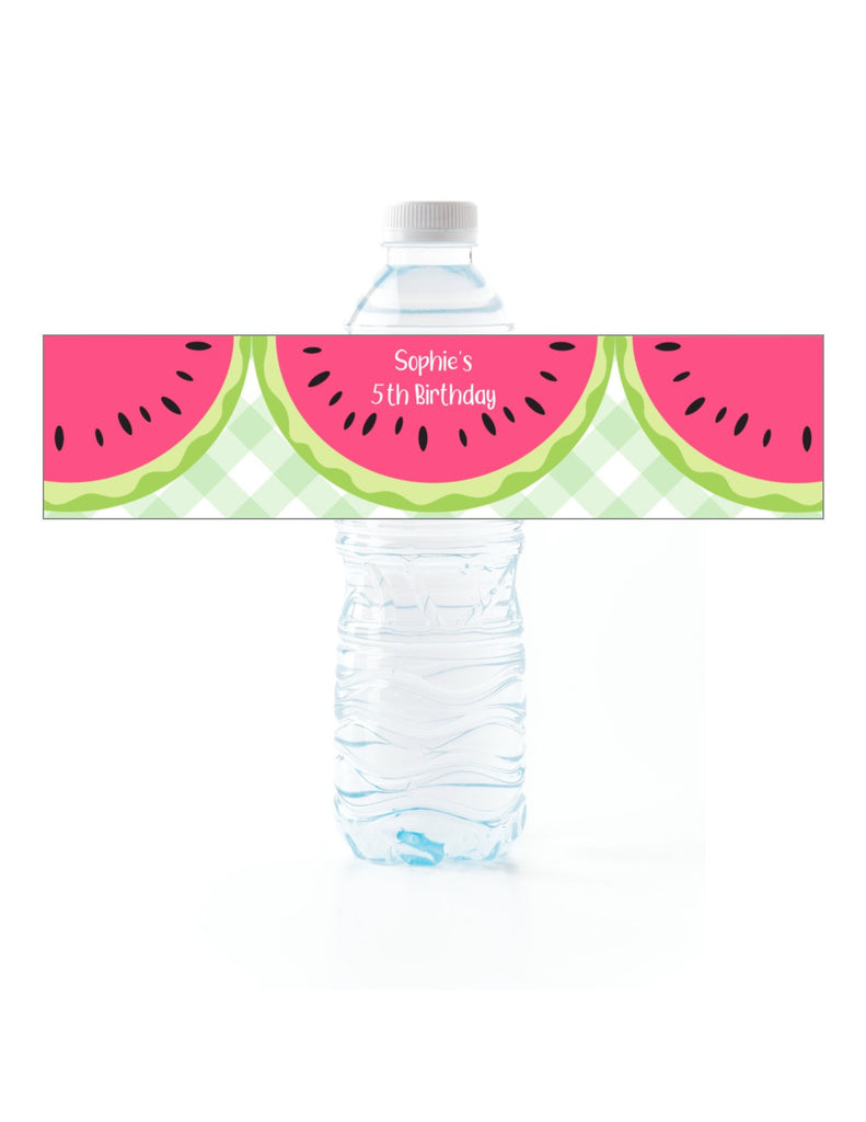 Watermelon Water Bottle Labels-Water Bottle Labels-Cathy's Creations - www.candywrappershop.com
