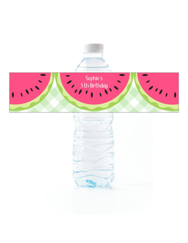 Watermelon Water Bottle Labels - Cathy's Creations - www.candywrappershop.com