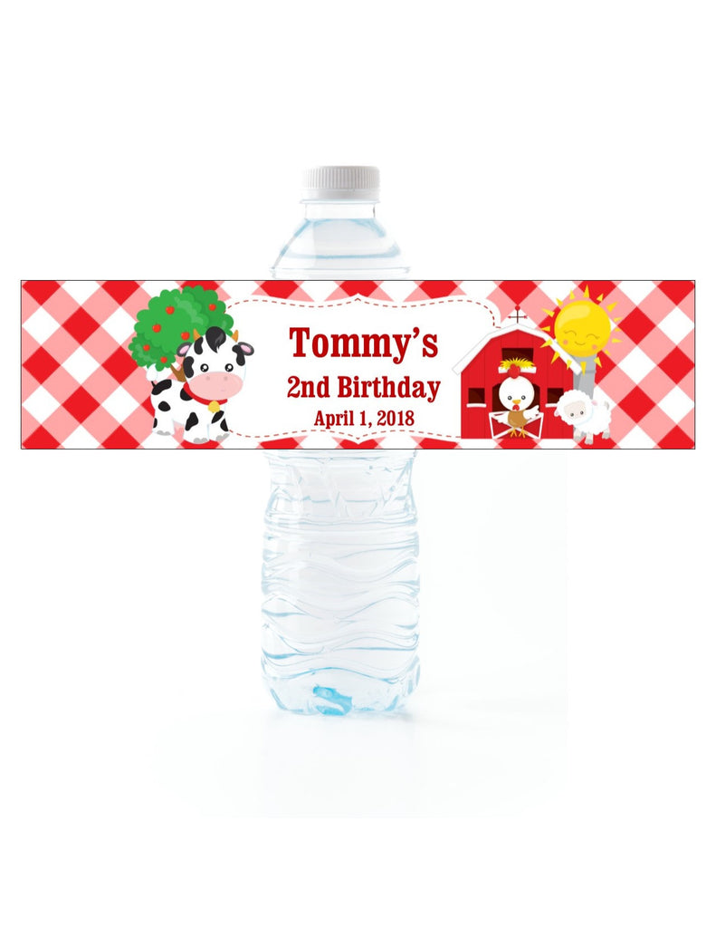 Farm Water Bottle Labels - Cathy's Creations - www.candywrappershop.com
