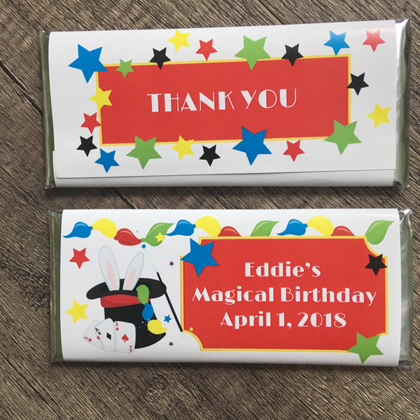 Magician Candy Bar Wrapper - Cathy's Creations - www.candywrappershop.com